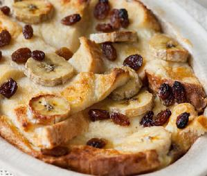 C4L Banana and sultana bread and butter pudding image